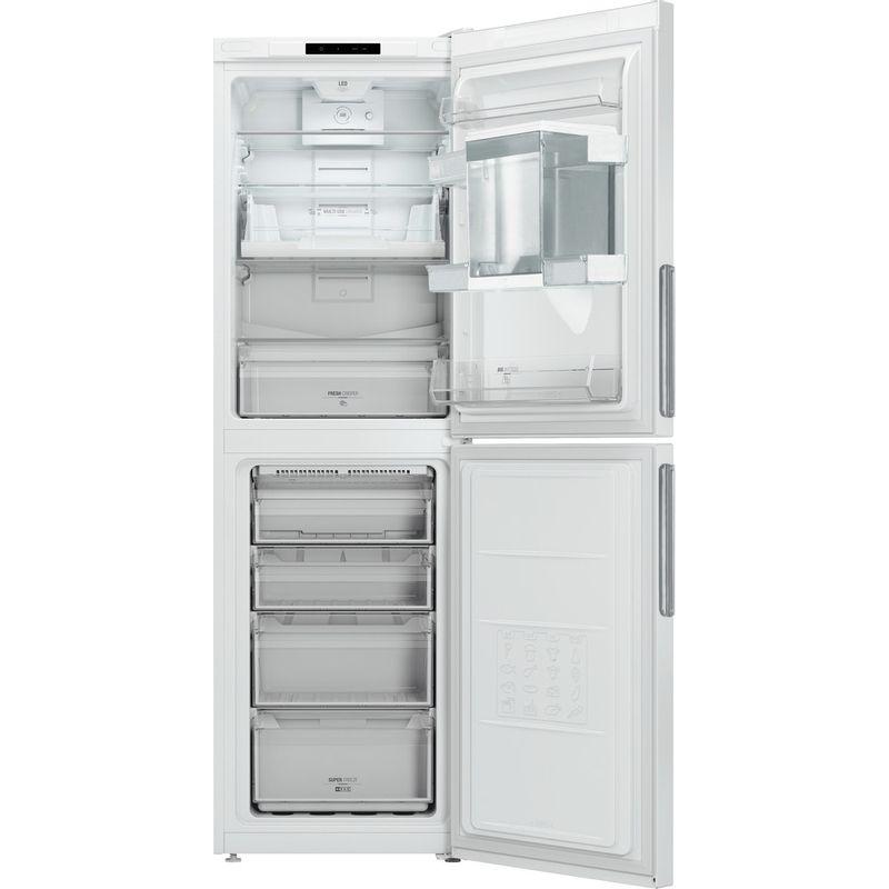 Hotpoint-Fridge-Freezer-Free-standing-LAL85-FF1I-W-WTD-White-2-doors-Frontal-open