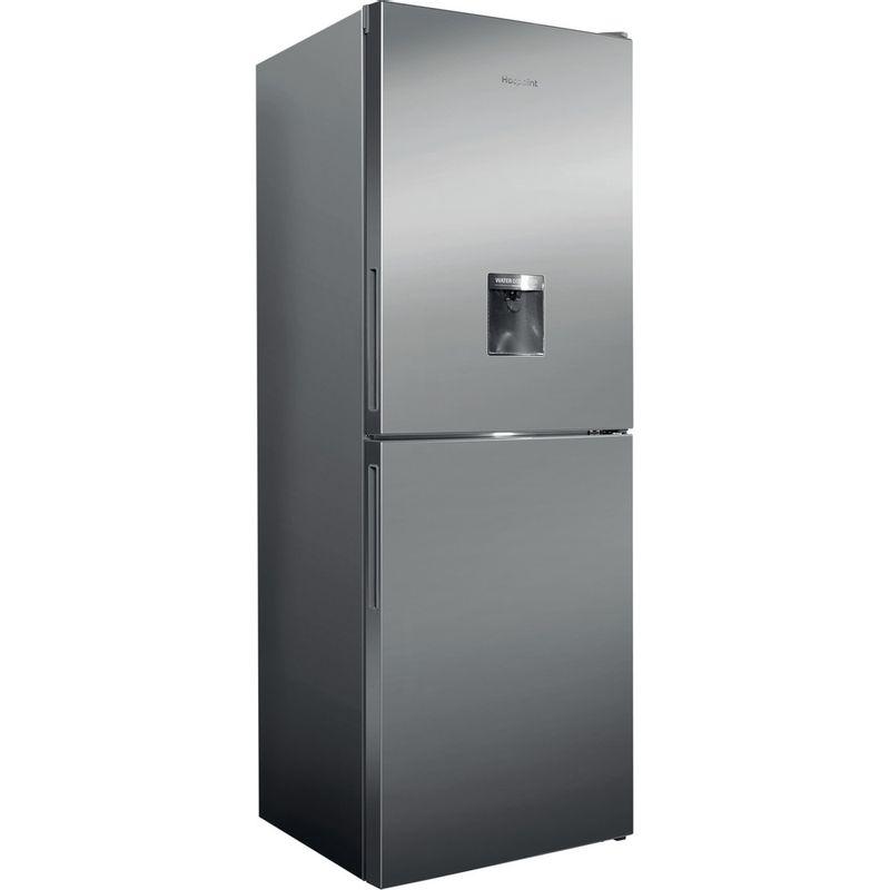 Hotpoint-Fridge-Freezer-Free-standing-XAL85-T1I-G-WTD-Graphite-2-doors-Perspective