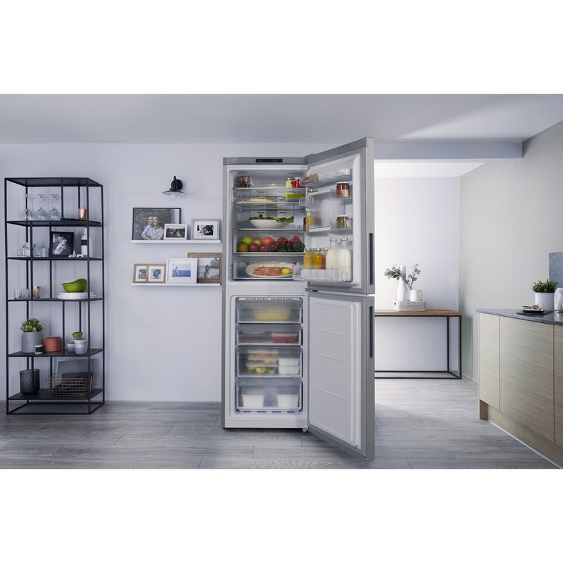Hotpoint-Fridge-Freezer-Free-standing-XAL85-T1I-G-WTD-Graphite-2-doors-Lifestyle_Frontal_Open