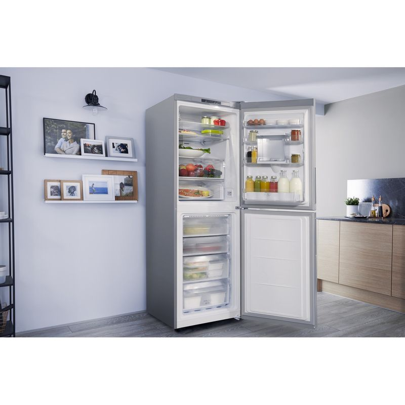 Hotpoint-Fridge-Freezer-Free-standing-XAL85-T1I-G-WTD-Graphite-2-doors-Lifestyle_Perspective_Open