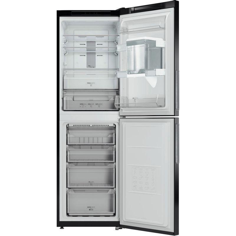Hotpoint-Fridge-Freezer-Free-standing-XAL85-T1I-K-WTD-Black-2-doors-Frontal-open