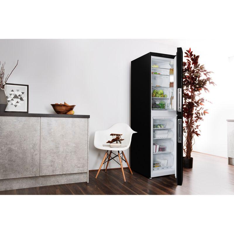 Hotpoint-Fridge-Freezer-Free-standing-XAL85-T1I-K-WTD-Black-2-doors-Lifestyle-perspective-open