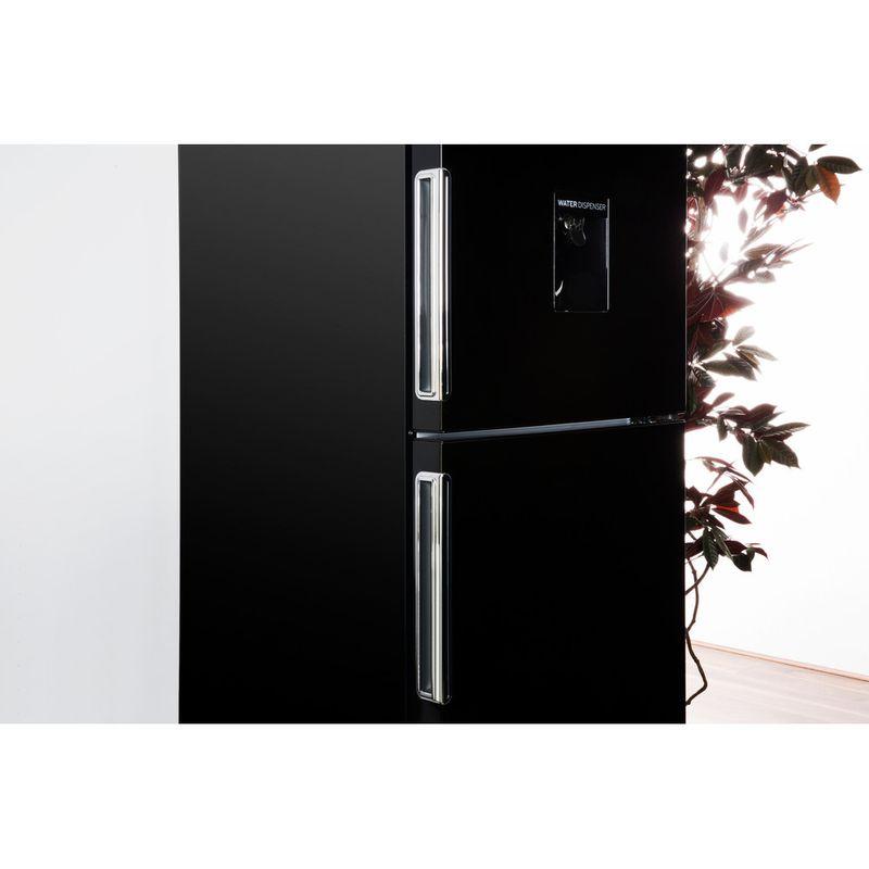 Hotpoint-Fridge-Freezer-Free-standing-XAL85-T1I-K-WTD-Black-2-doors-Lifestyle-detail