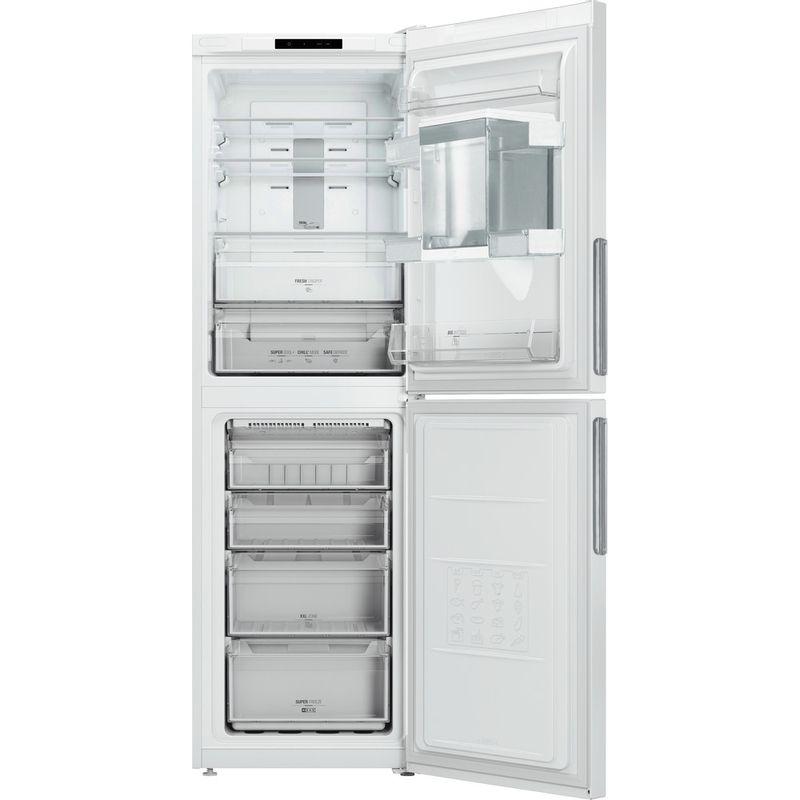 Hotpoint-Fridge-Freezer-Free-standing-XAL85-T1I-W-WTD-White-2-doors-Frontal-open