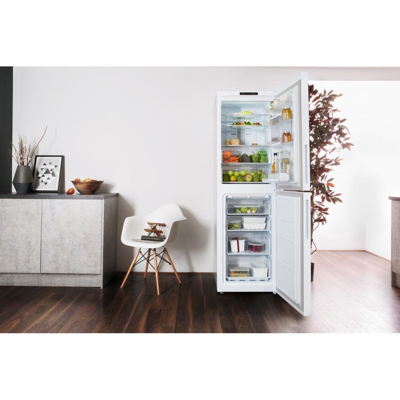 Hotpoint-Fridge-Freezer-Free-standing-XAL85-T1I-W-WTD-White-2-doors-Lifestyle-frontal-open