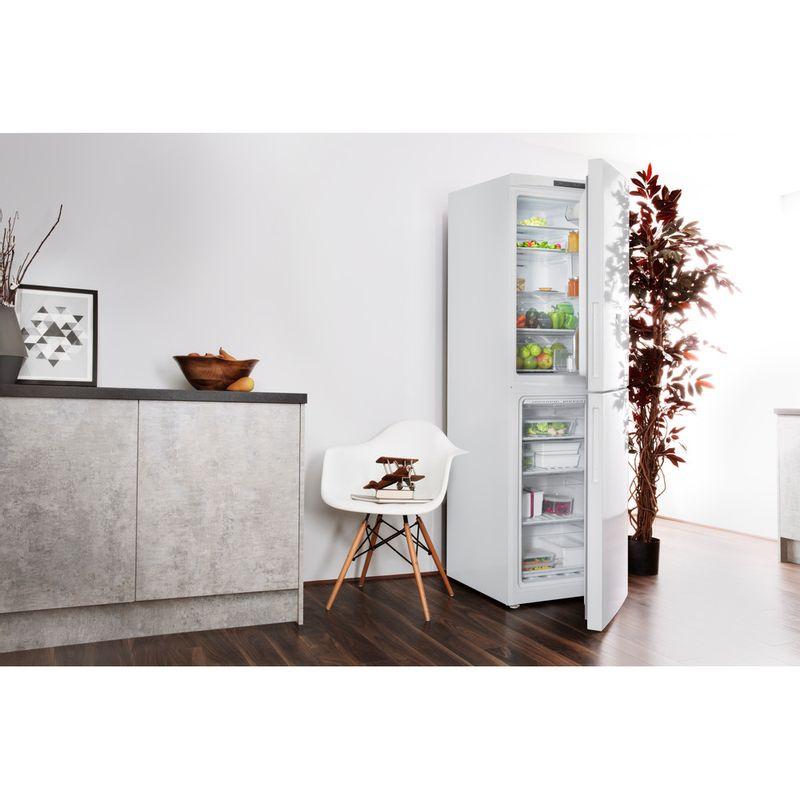 Hotpoint-Fridge-Freezer-Free-standing-XAL85-T1I-W-WTD-White-2-doors-Lifestyle-perspective-open