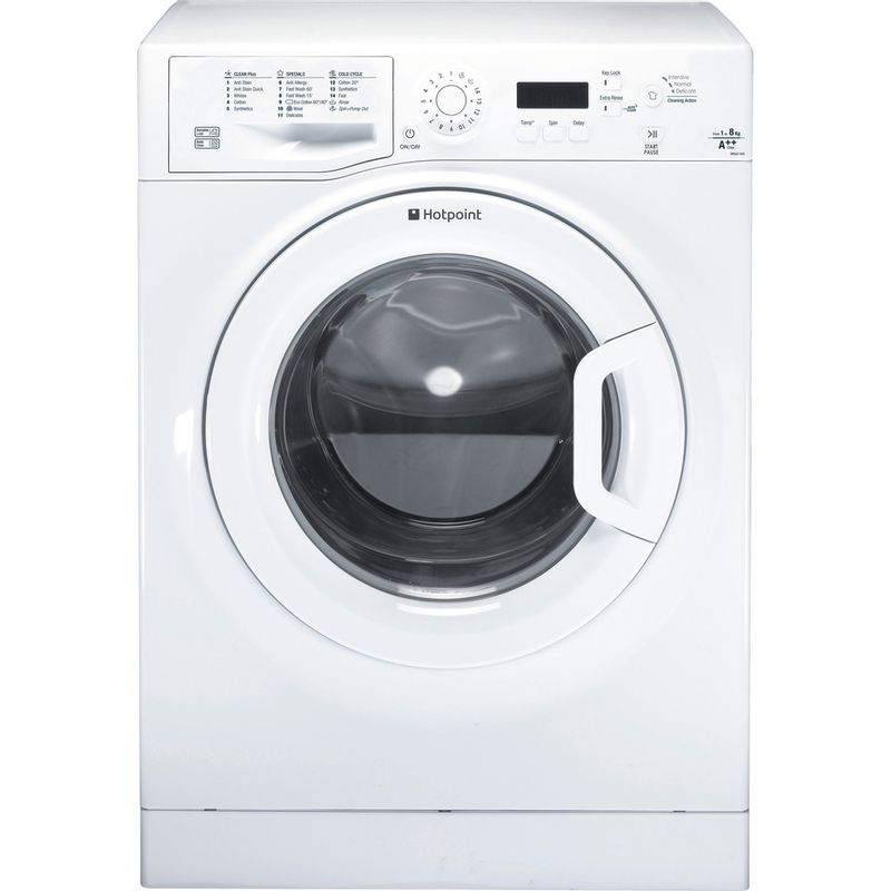 Hotpoint-Washing-machine-Free-standing-WMJLF-842P-UK-White-Front-loader-A---Frontal