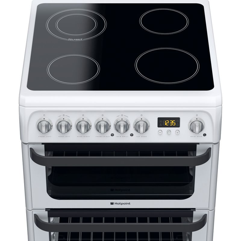 Hotpoint-Double-Cooker-JLE60P-White-B-Vitroceramic-Frontal-top-down