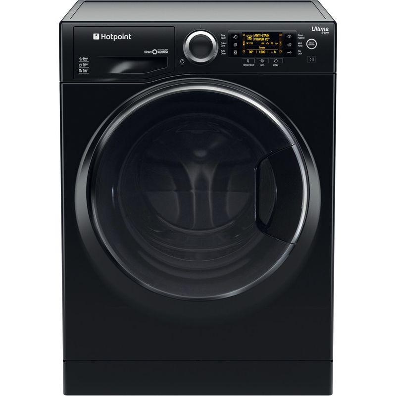 Hotpoint-Washing-machine-Free-standing-RPD-9477-DKD-UK-Black-Front-loader-A----Frontal