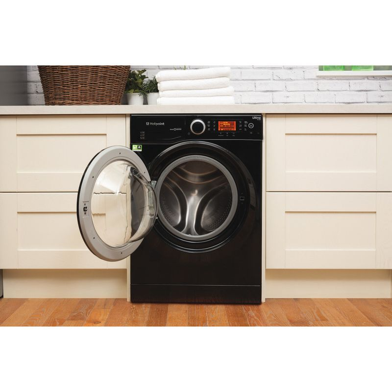 Hotpoint-Washing-machine-Free-standing-RPD-9477-DKD-UK-Black-Front-loader-A----Lifestyle_Frontal_Open