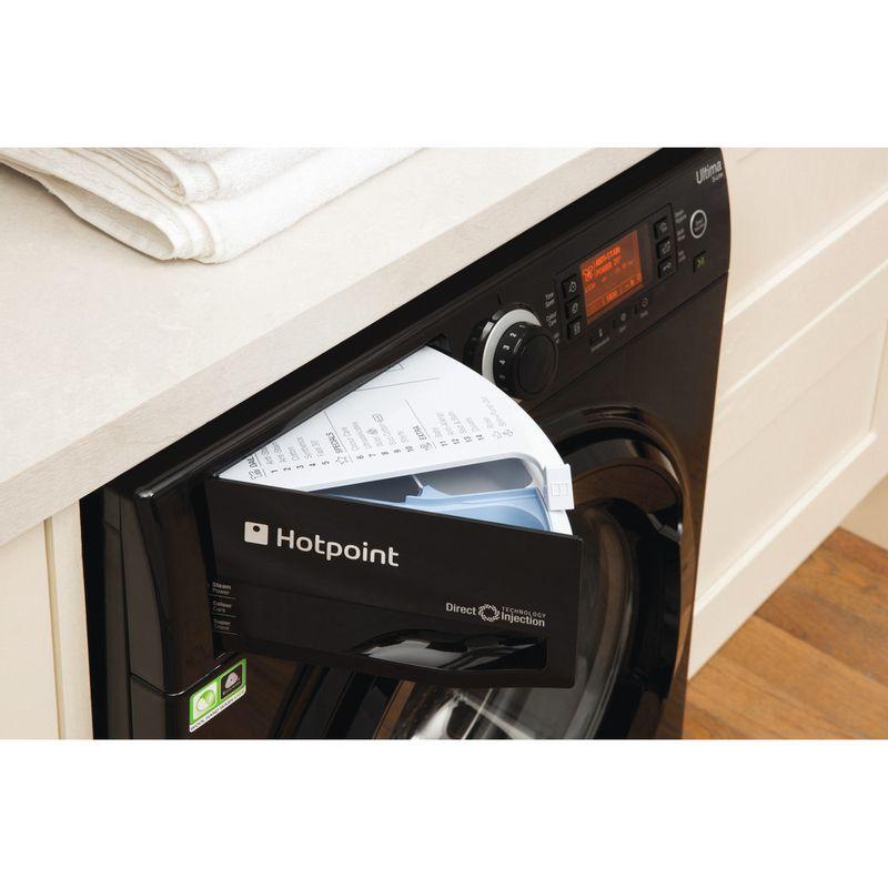 Hotpoint-Washing-machine-Free-standing-RPD-9477-DKD-UK-Black-Front-loader-A----Drawer