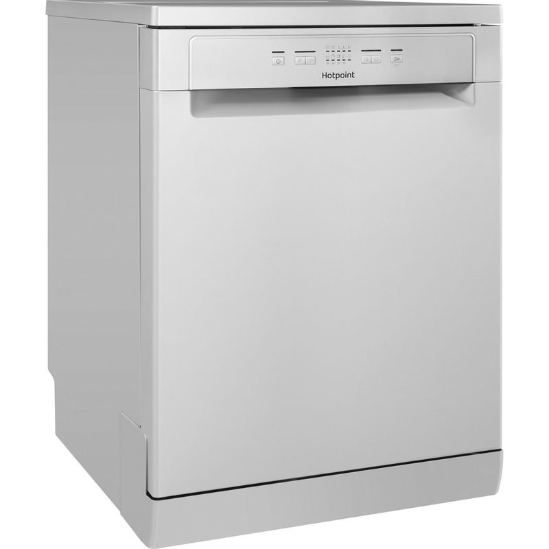 Hotpoint-Dishwasher-Free-standing-HFC-2B19-SV-UK-Free-standing-A-Perspective