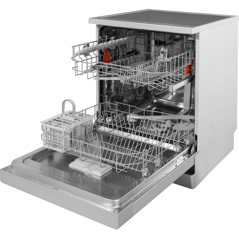 Hotpoint-Dishwasher-Free-standing-HFC-2B19-SV-UK-Free-standing-A-Perspective_Open