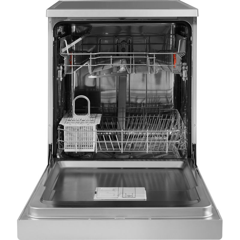 Hotpoint-Dishwasher-Free-standing-HFC-2B19-SV-UK-Free-standing-A-Frontal_Open