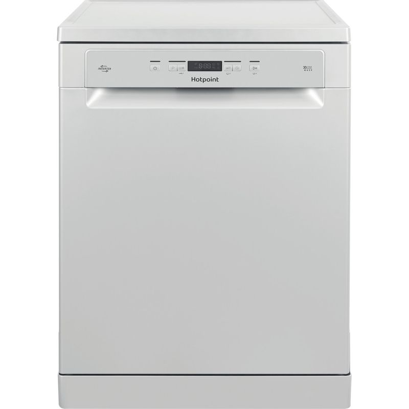 Hotpoint-Dishwasher-Free-standing-HFC-3C26-W-SV-UK-Free-standing-A-Frontal