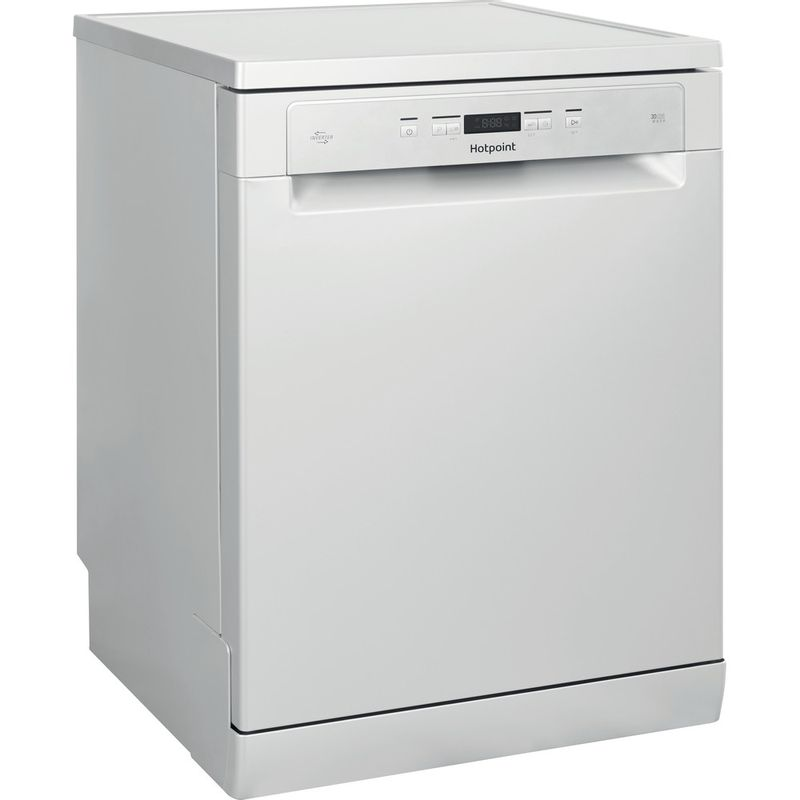 Hotpoint-Dishwasher-Free-standing-HFC-3C26-W-SV-UK-Free-standing-A-Perspective
