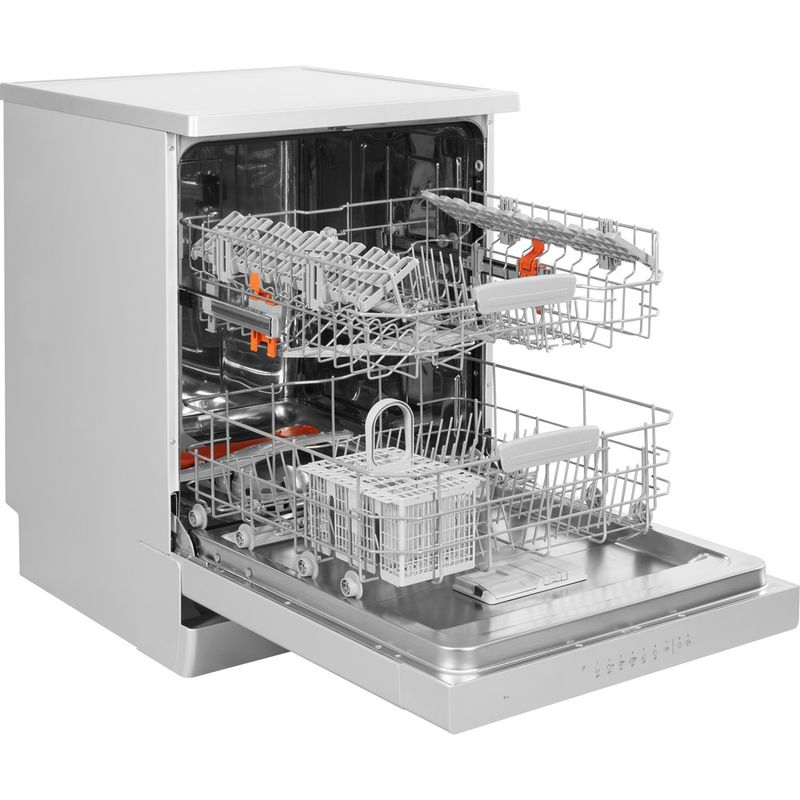 Hotpoint-Dishwasher-Free-standing-HFC-3C26-W-SV-UK-Free-standing-A-Perspective_Open