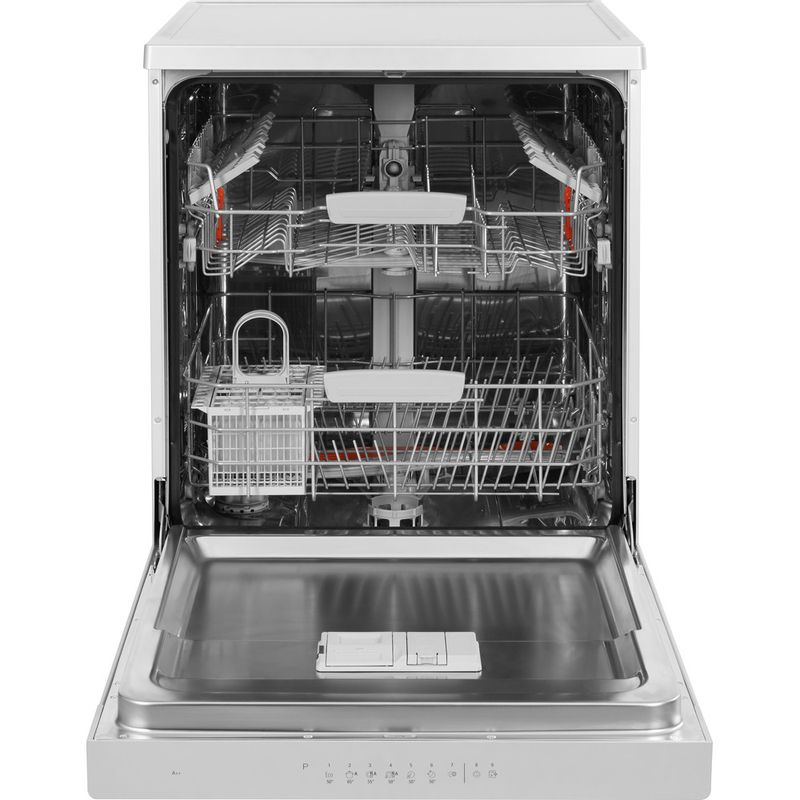 Hotpoint-Dishwasher-Free-standing-HFC-3C26-W-SV-UK-Free-standing-A-Frontal_Open