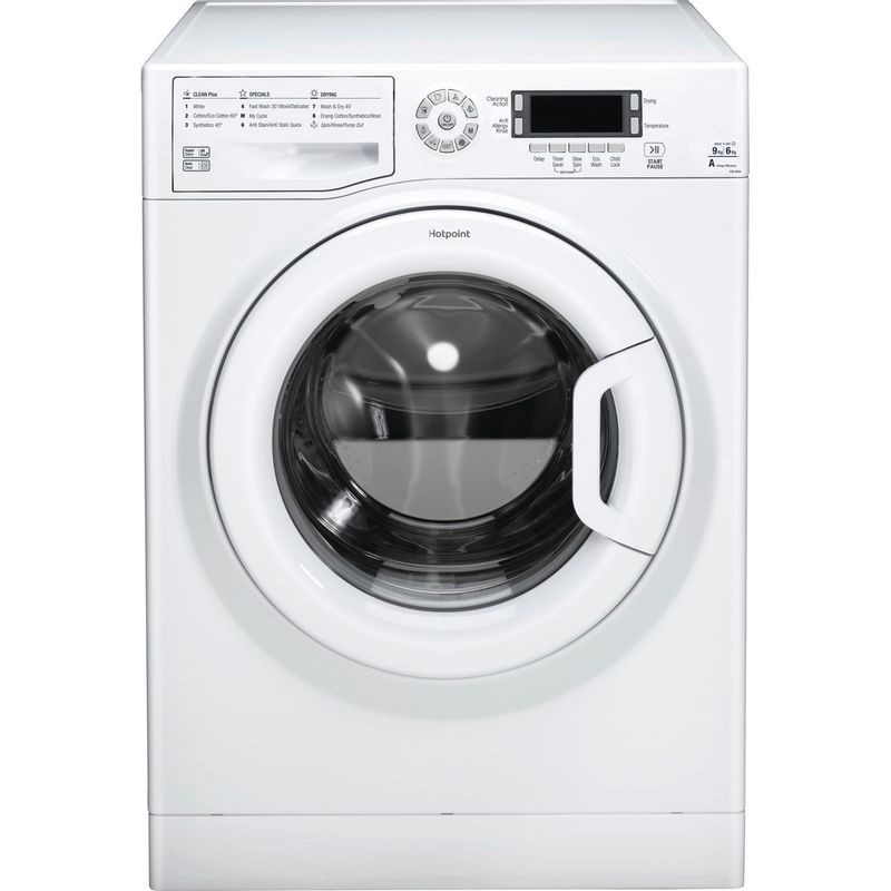 Hotpoint-Washer-dryer-Free-standing-FDD-9640P-UK-White-Front-loader-Frontal