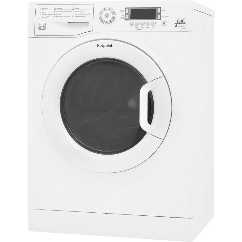 Hotpoint-Washer-dryer-Free-standing-FDD-9640P-UK-White-Front-loader-Perspective