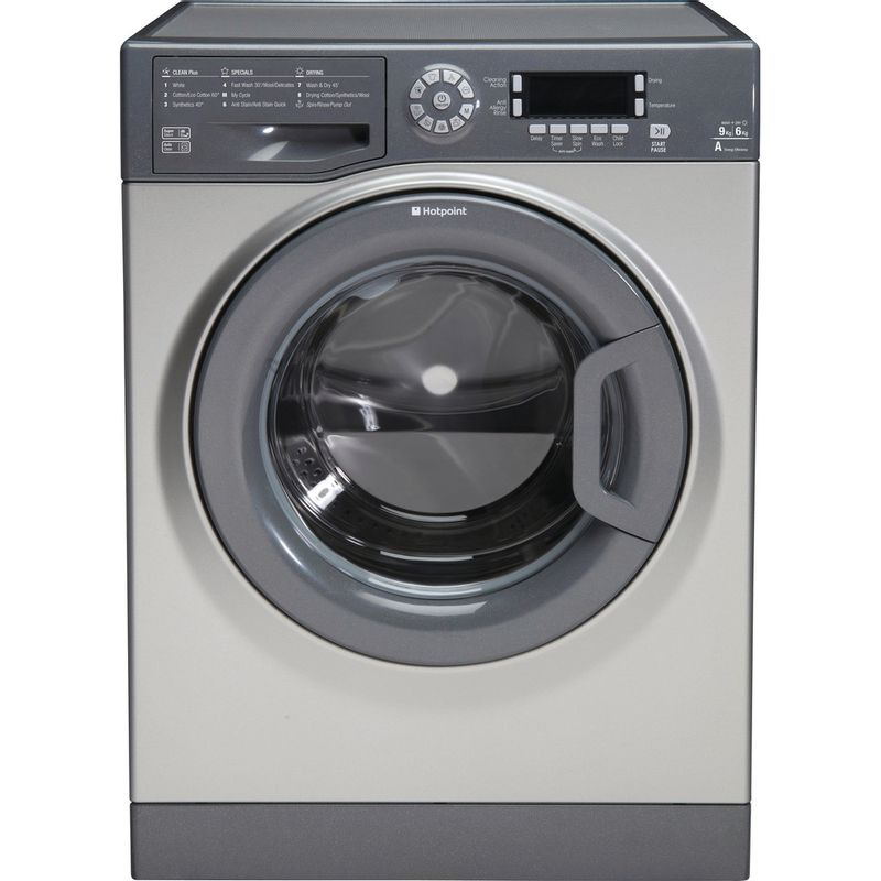 Hotpoint-Washer-dryer-Free-standing-FDD-9640G-UK-Graphite-Front-loader-Frontal
