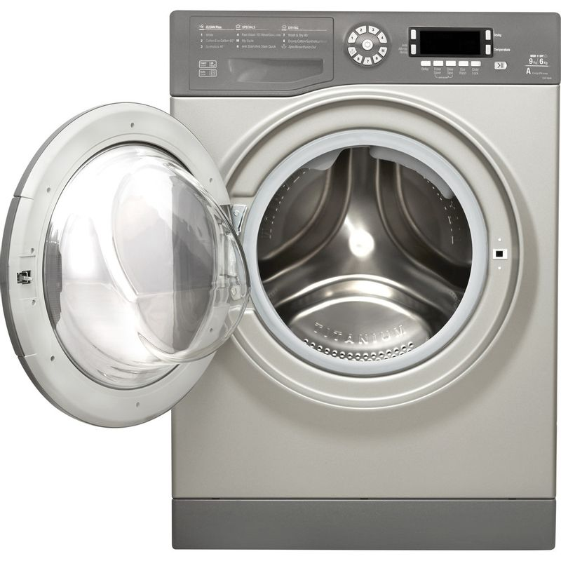 Hotpoint-Washer-dryer-Free-standing-FDD-9640G-UK-Graphite-Front-loader-Frontal_Open