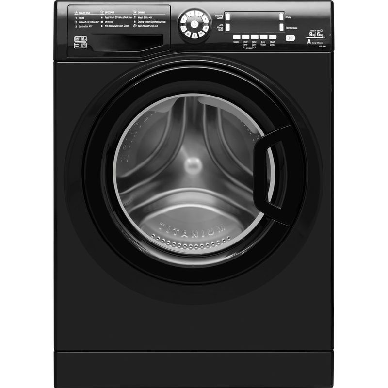 Hotpoint-Washer-dryer-Free-standing-FDD-9640K-UK-Black-Front-loader-Frontal