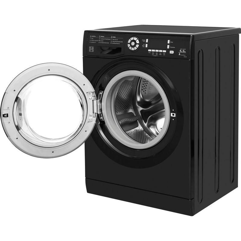 Hotpoint-Washer-dryer-Free-standing-FDD-9640K-UK-Black-Front-loader-Perspective_Open