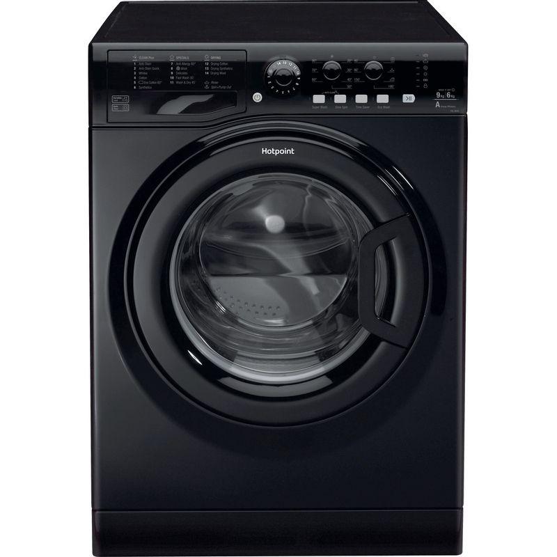 Hotpoint-Washer-dryer-Free-standing-FDL-9640K-UK-Black-Front-loader-Frontal
