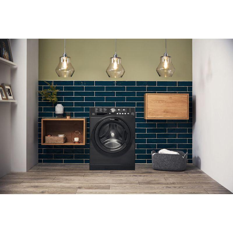 Hotpoint-Washer-dryer-Free-standing-FDL-9640K-UK-Black-Front-loader-Lifestyle_Frontal