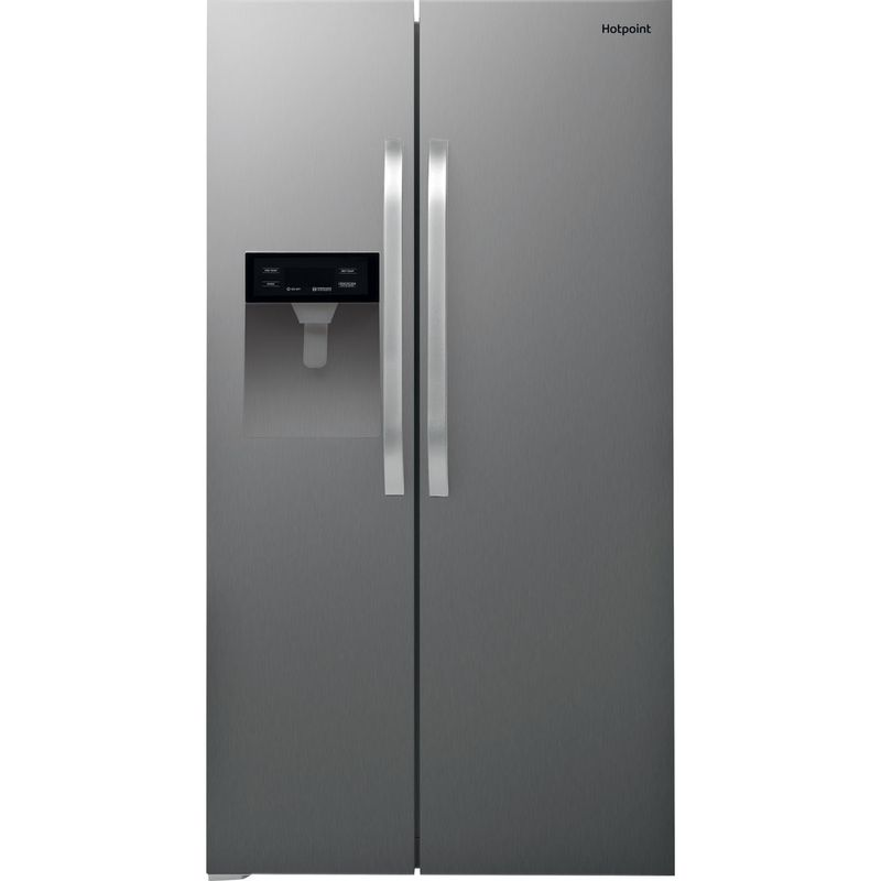 Hotpoint-Side-by-Side-Free-standing-SXBHE-924-WD--UK--Inox-Look-Frontal