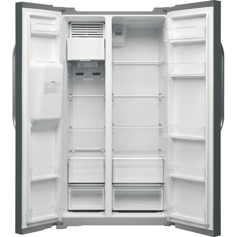 Hotpoint-Side-by-Side-Free-standing-SXBHE-924-WD--UK--Inox-Look-Frontal_Open