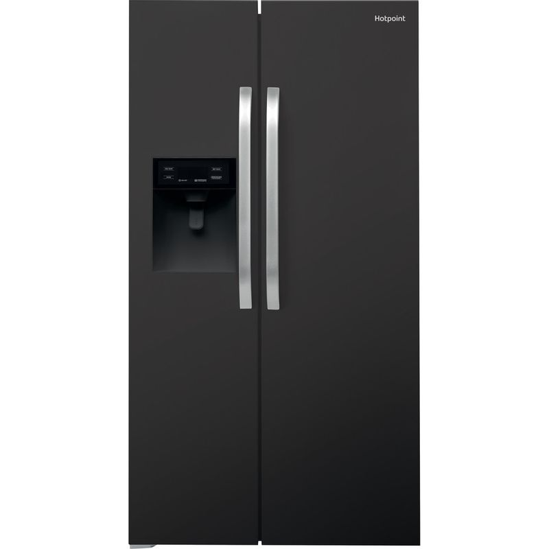 Hotpoint-Side-by-Side-Free-standing-SXBHE-925-WD--UK--Mirror-black-Frontal