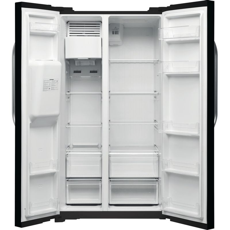 Hotpoint-Side-by-Side-Free-standing-SXBHE-925-WD--UK--Mirror-black-Frontal_Open