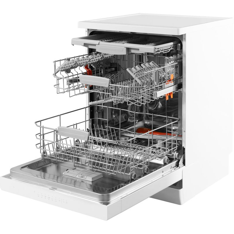 Hotpoint-Dishwasher-Free-standing-HFO-3C23-WF-UK-Free-standing-A-Perspective-open