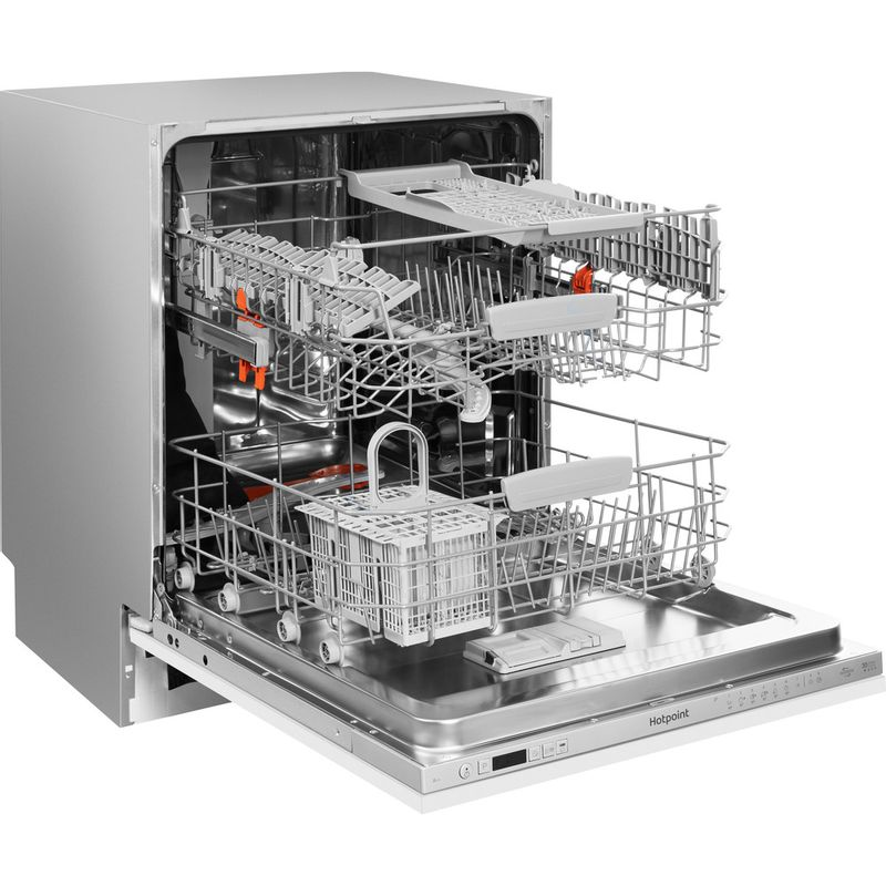 Hotpoint-Dishwasher-Built-in-HIO-3C26-W-UK-Full-integrated-E-Perspective_Open