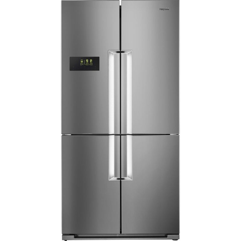 Hotpoint-Side-by-Side-Free-standing-HPSN--4T-A--IN-Inox-Frontal