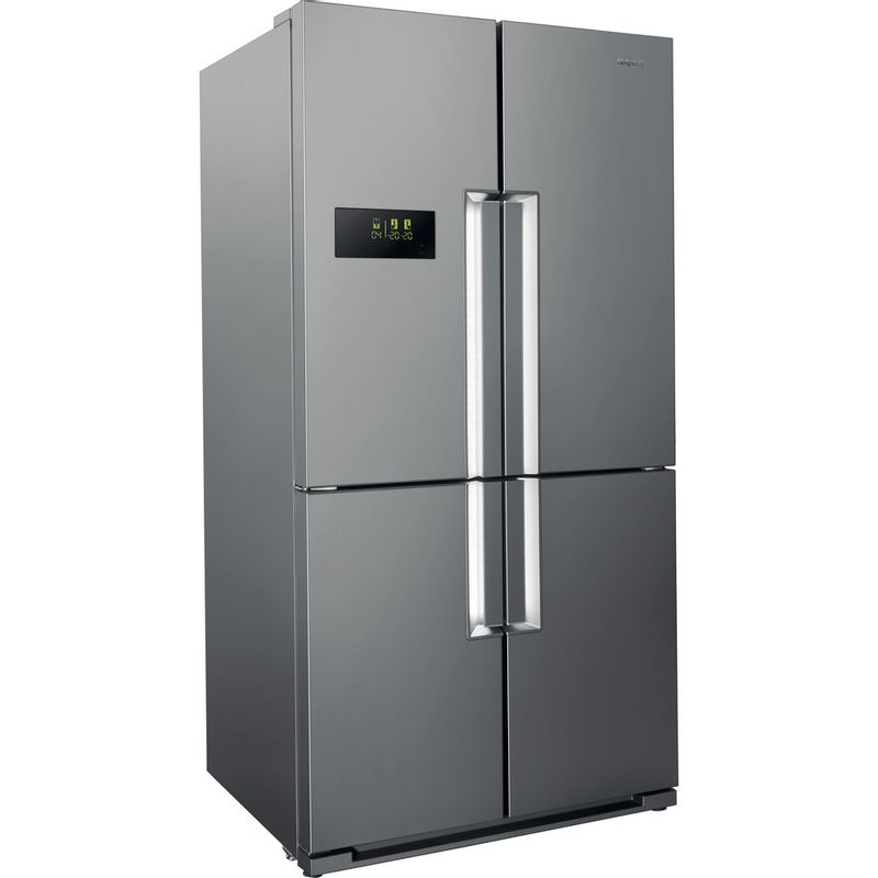 Hotpoint-Side-by-Side-Free-standing-HPSN--4T-A--IN-Inox-Perspective