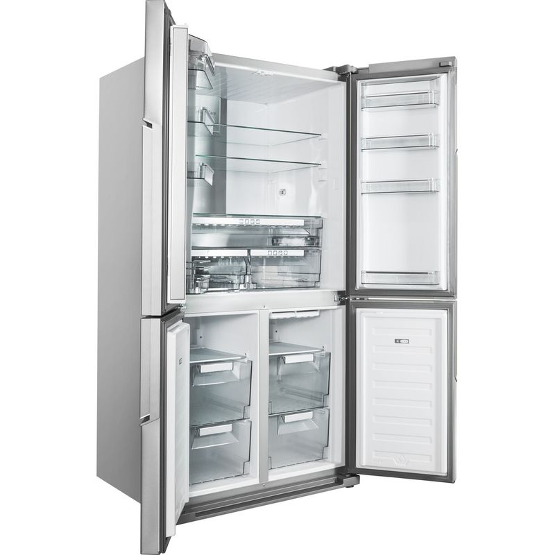 Hotpoint-Side-by-Side-Free-standing-HPSN--4T-A--IN-Inox-Perspective_Open