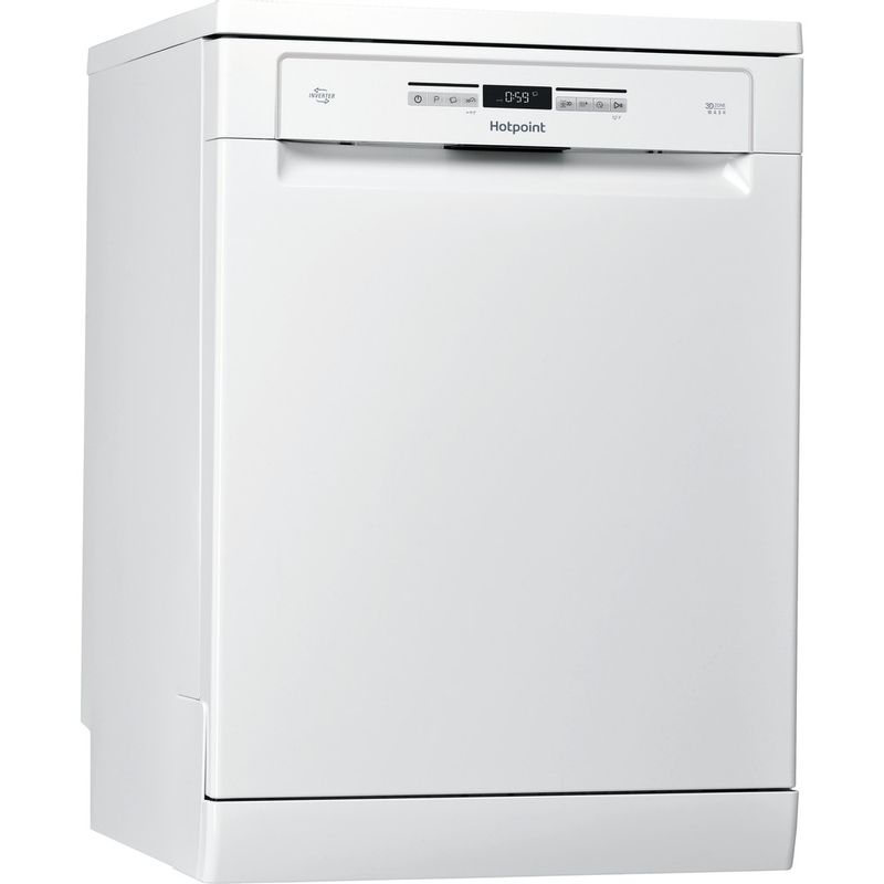 Hotpoint-Dishwasher-Free-standing-HFO-3O32-WG-C-UK-Free-standing-A-Perspective