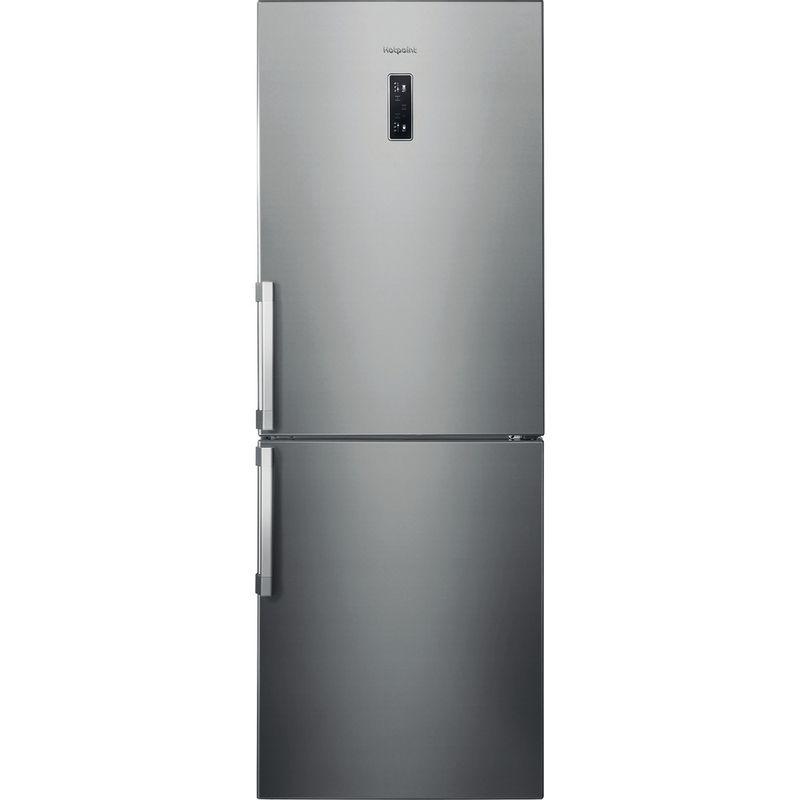 Hotpoint-Fridge-Freezer-Free-standing-NFFUD-191-X-Optic-Inox-2-doors-Frontal