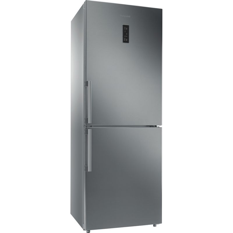 Hotpoint-Fridge-Freezer-Free-standing-NFFUD-191-X-Optic-Inox-2-doors-Perspective