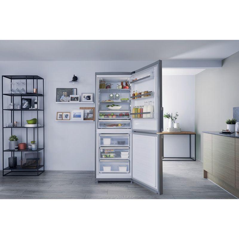 Hotpoint-Fridge-Freezer-Free-standing-NFFUD-191-X-Optic-Inox-2-doors-Lifestyle-frontal-open