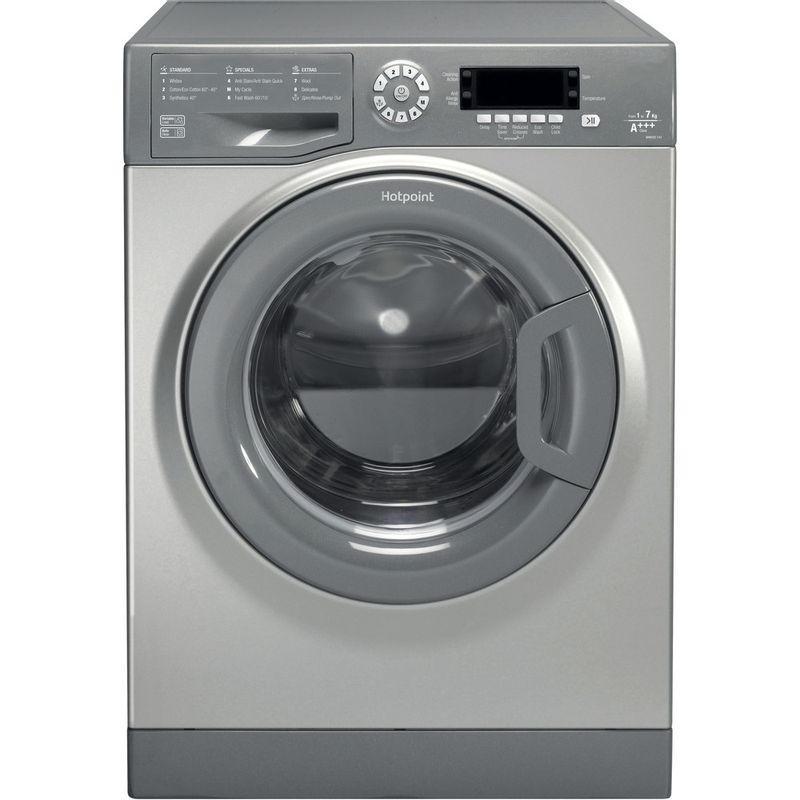 Hotpoint-Washing-machine-Free-standing-WMAOD-743G-UK-Silver-Front-loader-A----Frontal