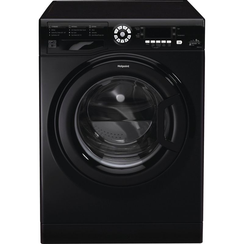 Hotpoint-Washing-machine-Free-standing-WMAOD-844K-UK-Black-Front-loader-A----Frontal