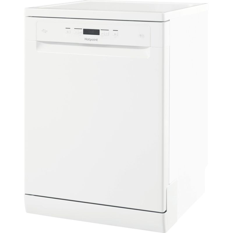 Hotpoint-Dishwasher-Free-standing-HFC-3C26-W-UK-Free-standing-A---Perspective