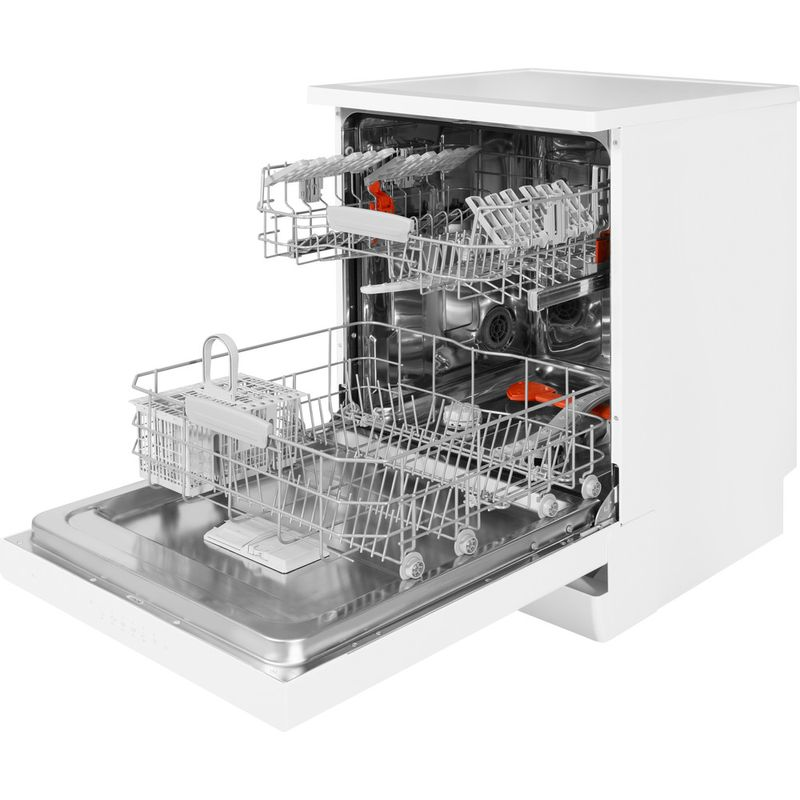 Hotpoint-Dishwasher-Free-standing-HFC-3C26-W-UK-Free-standing-A---Perspective_Open