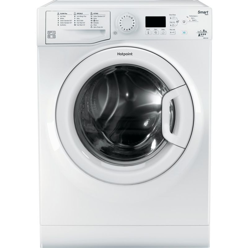 Hotpoint-Washing-machine-Free-standing-WMFUG-863P-UK-White-Front-loader-A----Frontal