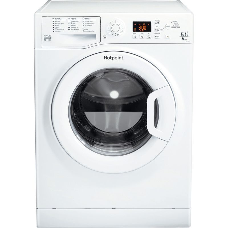 Hotpoint-Washer-dryer-Free-standing-FDF-9640-P-UK-White-Front-loader-Frontal