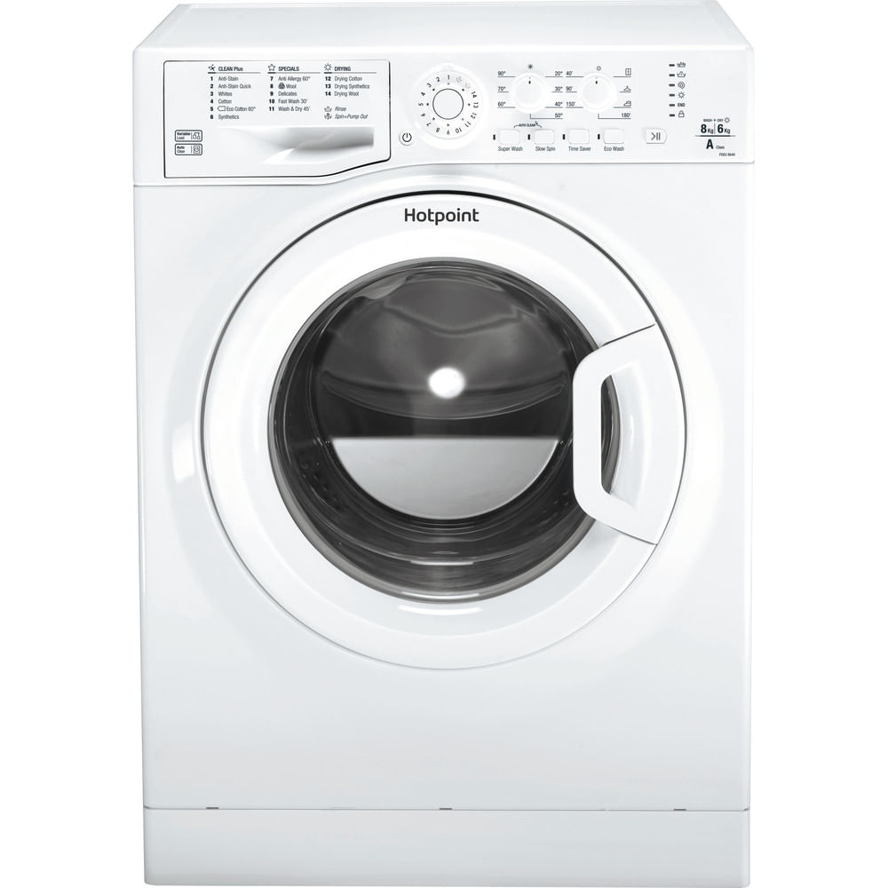 Hotpoint Freestanding Washer Dryer FDEU 8640 P UK : discover the specifications of our home appliances and bring the innovation into your house and family.